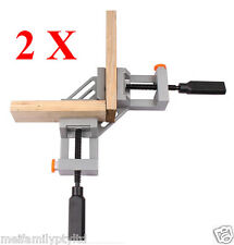 2x90°Corner Clamp,Quick Release Button,Picture Framing Woodworking Welding Vice