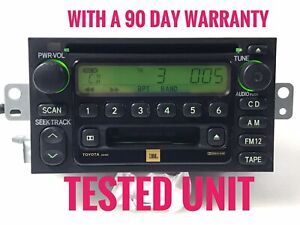 """""""TO995"""" Toyota Camry 4Runner JBL  disc CD cass player radio AD6805 ,86120-08120"""