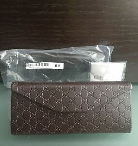 GUCCI FOLDABLE EYE AND SUN GLASSES BROWN TRIFOLD CASE - SEALED - NEW