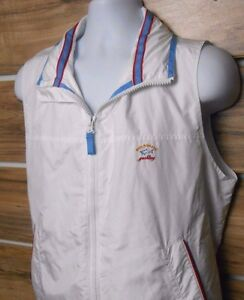 Paul & Shark Yachting Embroidered LOGO Women's White Vest L Hood Italy Made