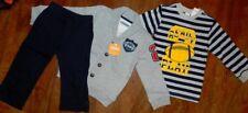 Pant Set 3pc Gymboree Gray Navy Cardigan Pants Tee Boy size 3T New