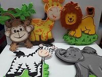 SAFARI Wild Animals Baby Shower Foam Decoration 10pcs mixed