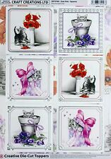 A4 DIE CUT FOILED CARD TOPPER SHEET CHRISTMAS SELECTION CDT569G Paper Tole