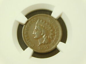 1877 Indian Head Cent - NGC VF25 - Key Date