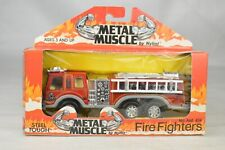 "Nylint #424 ""Metal Muscle"" Pumper Fire Truck 1990 Korea 5 7/8"" Long Mint W/Box"