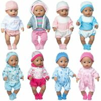 Baby Doll Clothes 43cm Pajama Set Hat  Doll Outwear 17 Inch New Born