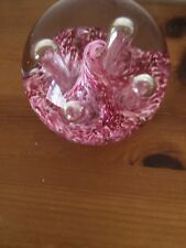 Caithness Glass Moonflower Pink Paperweight