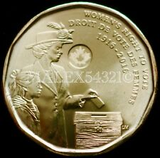2016 CANADA 1 DOLLAR 100TH ANNIVERSARY OF THE WOMEN'S RIGHT TO VOTE UNC