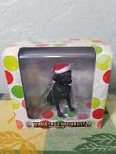 New Sandicast Blk Labrador Retriever Dog w/ Santa Hat Christmas Tree Ornament
