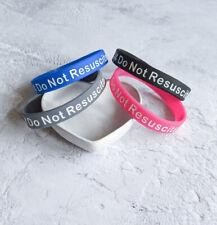 x2 Do Not Resuscitate DNR Bracelet Silicone Wristband Medical Alert UK Seller