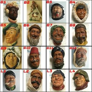 16 Bossons Heads / Legend Vintage Chalkware Wall Plaque Figures CHEAPEST on eBay