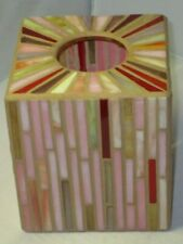 Stained Glass Mosaic Square Tissue Box Cover
