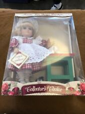 Genuine Fine Bisque Porcelain Collector's Choice Kitchen Basket Doll With Cat