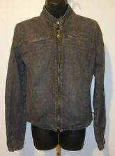 Vintage Polo Jeans Co. Ralph Lauren Motorcycle Denim Jacket M Faded Black/Gray