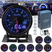 52mm LED Digital Auto Abgastemperaturanzeige EGT Temperaturmesser 10 LED