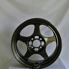 4 ROTA WHEEL SLIPSTREAM 15X7 4x100 40 67.1  GUNMETAL MR2 XA XB