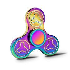 Clover Plating Colorful Fidget Tri Hand Spinner  Zinc Alloy Ceramic Torqbar Gift