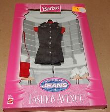Barbie Fashion Avenue Collection Real Clothes Jeans Mattel 19179 NIB 97 121V