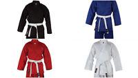 BLITZ KARATE SUIT GI KIDS ADULTS RED WHITE BLUE BLACK MIXED FREE WHITE BELT