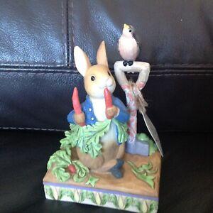 "Jim Shore Beatrix Potter 'Then he ate some radishes"" (Peter Rabbit) 6008743 New"