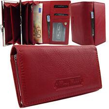 Lederbörse Damen Geldbörse Portemonnaie Geldbeutel Beutel Geld Leder Rot  5285