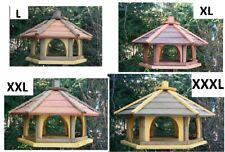 Vogelhaus aus Holz KL, natur Vogelfutterhaus,Holzvilla,Futtertrog,Vogelstation