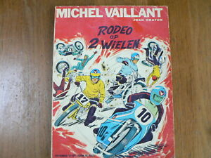 DUTCH COMIC MICHEL VAILLANT RODEO OP 2 WIELEN MOTORCYCLE COVER AND MX CROSS