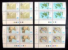 HONG KONG 1984 Maps (4) SG454/7 in Plate Blocks of 4 U/M NB4652
