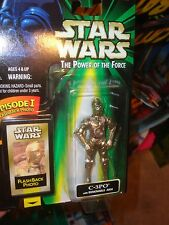 STAR WARS POWER OF THE FORCE EPISODE ONE C3PO W/ FLASHBACK PHOTO , UNOPENED