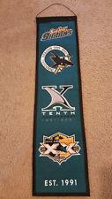 "San Jose Sharks Wool Banner NHL Hockey 32"" New Embroidered Team Logo."