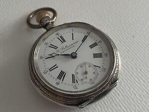 Wunderschöne Herren Taschenuhr 800er Silber B. Bettenmann WINTERTHUR Lepine