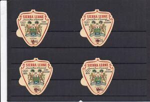 sierra leone 4 timbres neufs adhésifs jo mexico 1968 état excellent
