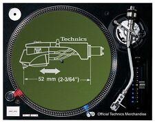 Technics Headshell Slipmats (pair/green)  OFFICIAL LICENSED DMC DJ