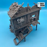 Ruined Town House Building - Terrain, Warhammer Fantasy, DnD, Frostgrave, 28mm