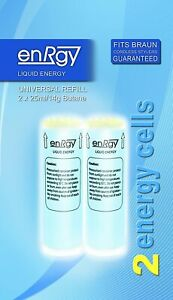 enRgy Gas energy Refills Cells CT2 for BRAUN Cordless Stylers 2 x 25ml CT1 3589