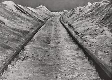 1928  Germany INDUSTRIAL RAILROAD Sand Landscape Photo Art ALBERT RENGER-PATZSCH