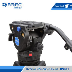 BENRO BV6H Video Head Hydraulic Fluid QR13 Quick Release Plate Aluminum