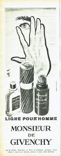 Publicité Advertising 037  1966  after- shave  René Gruau Monsieur de  Givenchy
