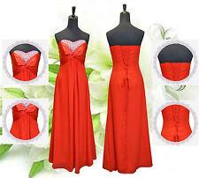 Strapless Sweethart Ruffles  Beads  Evening/Party/Wedding Bridesmaid Dress 6-24