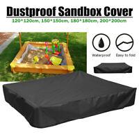 Black Square Oxford Sandbox Sandpit Cover Dustproof Waterproof with Drawstring