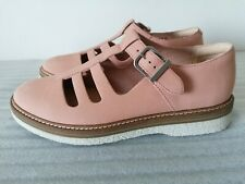 CLARKS ZANTE FREYA WOMENS PINK NUBUCK LEATHER WEDGE SHOES SANDALS UK SIZE 6