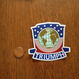 Triumph TR2 Jabbeke Badge Sticker Color Label Vintage Reproduction