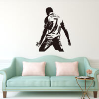Soccer Football Player Cristiano Ronaldo Wall Sticker Sports Game Decals Gift