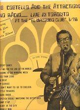 ELVIS COSTELLO radio radio LIVE TORONTO ex++ lp 1978