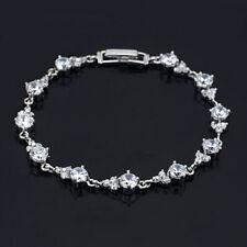 Luxurious CZ Diamond White Gold Plated Bracelet