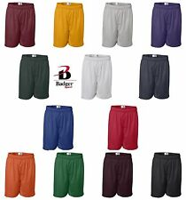 "Badger Sport Mens S-3XL 4XL 5XL 7"" Athletic Pro Mesh Team Basketball Shorts 7207"