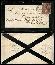 Penny Rojo luto envolvente Militar Aldershot Camp 1874 + farnboro estación