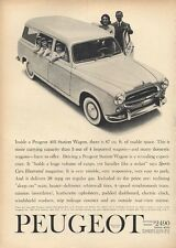 1960 Peugeot 403 Station Wagon with Family PRINT AD