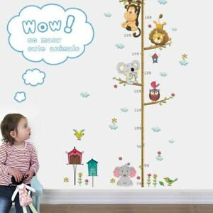 Kids Height Growth Chart Measure Wall Sticker Kids Room Nursery Playroom D dddg