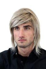 Perücke Herren Männer Lang lässig braun blond gesträhnt Scheitel GFW892-18T22